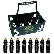 Optimum Sports Water Bottle Carrier & Bottles Plastic Moulded