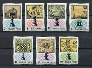 S7799) Hungary 1974 MNH Chess 7v - Check