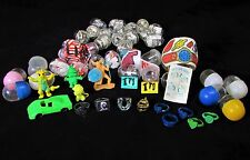 1970's, 80's Gumball Vending Machine Prizes – 42 Total – Rubber Monster, Tattoos