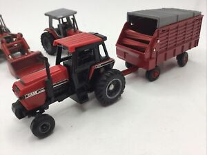 Vintage Ertl Case International 2594 Tractor & Hay Trailer Implement 1:64 Korea