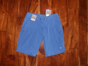 NWT Womens FREE COUNTRY Peri Mist Blue Active Board Bermuda Shorts Small (4/6)