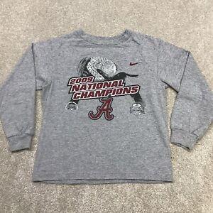 Nike Shirt Toddler Kids 4 NCAA Alabama 2009 National Champions Football Gray