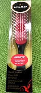Denman D31 Freeflow 7 Row Styling Detangling Hair Brush Black&Red TOP Choice NIB