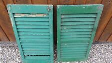 """VINTAGE Old 2 SHUTTERS Wooden 28"""" long x 15"""" Wide Architectural Salvage"""