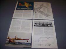 VINTAGE..CANADAIR CL-215T..3-VIEWS/SPECS/CUTAWAY..RARE! (159C)