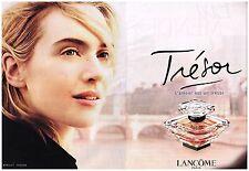 """Publicité Advertising 2007 (2 pages) Parfum """"Trésor"""" de Lancome Kate Winslet"""
