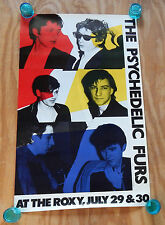 THE PSYCHEDELIC FURS AT THE ROXY  -  ORIGINAL ROLLED ROCK CONCERT POSTER (1981)