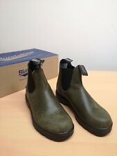 Blundstone 2052 Boots Unisex Classic Chelsea Green Leather Pull On Boot - SIZE 3
