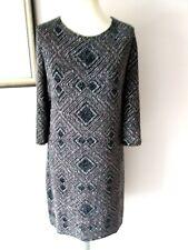 BNWT WALLIS BLACK/SILVER SPARKLING STRETCHY LOW BACK TUNIC EVE DRESS- Size 20