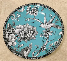 "222 FIFTH AVENUE ADELAIDE Turquoise Round Appetizer Plate 6 1/4"" Diameter"