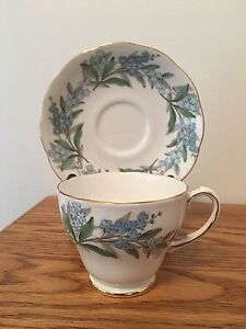 Roslyn Fine Bone China Remember Me Tea Cup & Saucer