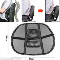 Lumbar Support Office Chair Cool Vent Cushion Mesh Fabric Back Truck Seat Black