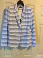Tommy Hilfiger Notch Collar Two-Button Stripe Jacket SZ 10 NEW