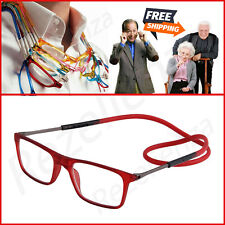 Click Adjustable Magnetic Front Connect Reading Eyeglasses New Full Rim Glasse