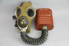 WWII Gas Mask Canadian Military Kaufman No. 4 MK 111w/ Canister Vintage 12/42