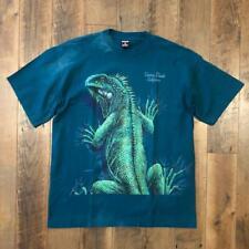Vtg 90s Signal Laguna Beach California Lizard Nature Double Sided T Shirt Xl
