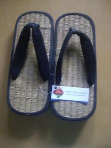 Womans Black Zori Bamboo Flip Flop Sandals