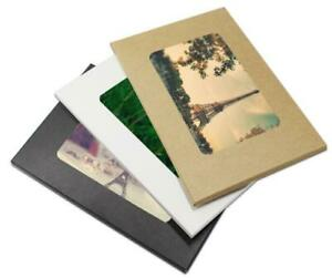 Colorful Kraft Paper Postcard Envelope Photo Picture Packaging Boxes With Window