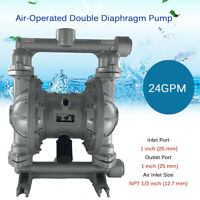 """Air-Operated Double Diaphragm Diaphram Pump 1"""" for Industrial Use QBK-25L 24GPM"""