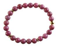 Rhodonit Edelstein-Armband Stretch Perlenarmband D279