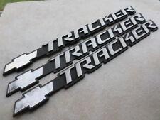 99-04 Chevy Tracker Side Door Fender Emblem 30021370 Logo Decal Set of 3 Scripts