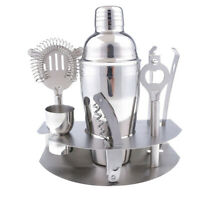 7pcs/SET Stainless Steel Cocktail Shaker Set Bartender Cocktail Shaker Tools