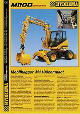 Prospekt 2002 Hydrema M 1100 compact Bagger 6 02 brochure digger Baumaschine