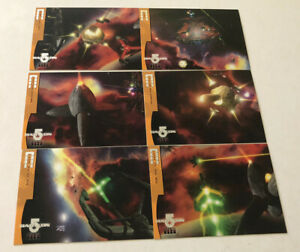"""Babylon 5 Season 4 (Four) - 6 Card """"Fleet Of The First Ones"""" Chase Set F1-F6"""