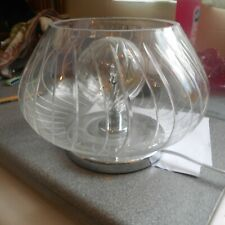 "Maison cut glass lamp, approx 6 3/4"" high, 9"" in diameter"