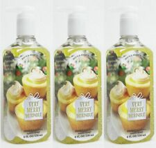 3 Bath & Body Works VERY MERRY MERINGUE Deep Cleansing Hand Soap Wash