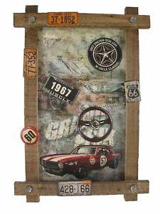 "Blechschild ""US-Car"" Oldtimer Ford Muscle Hot Rod Route 66 Werkstatt 59x40cm NEU"