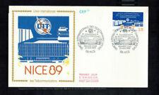 Fdc-1482*France 1989 *des Telecommunications Fdc w Cef Cachet