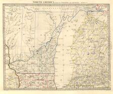 LAKE MICHIGAN. Wisconsin. Michigan excludes Upper Peninsula. SDUK 1846 old map