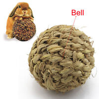 10cm Pet Chew Play Toy Grass Ball with Bell for Rabbit Hamster Guinea Pig Rat