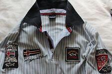 "Para hombres Auténticos Paul & Shark S/S Camisa Polo De Verano Ajustado De Montaje 20"" P2P Reino Unido M-L"