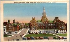 PROVIDENCE, Rhode Island RI   PROVIDENCE COUNTY COURT HOUSE  c1940s Postcard