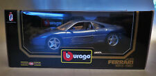 6751:Bburago Ferrari 348tb,1989,1:18,blau,Diamonds Collection,Mod.:3039,in OVP.