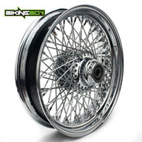"""Chrome 16""""x3.5"""" Front Wheel Rim 80 Spokes for Harley Touring Softail Dyna 00-06"""