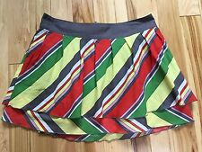 TARA JARMON Cotton Lined LAYERED STRIPED Skirt Sz Medium Women