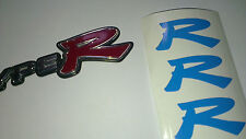 """Honda Civic Type R Front and Rear """"R"""" Badge Decal Inserts"""