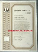Lot 50 X Prima Meat Packers, Ltd. 4er-OS 1989
