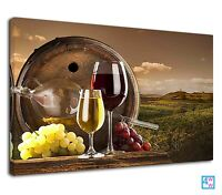 Pure Wine From The Vineyard Digital Illustration Canvas Print Wall Art Picture