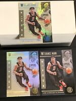 Terance Mann LOT(3) 2019-20 Illusions Starlight RC Parallel + Black Prizm & Base