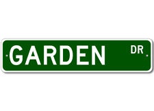 GARDEN Street Sign - Personalized Last Name Sign
