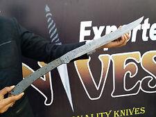 KNIVES EXPORTER Custom made New Ladder Damascus Steel Viking Blank Blade Sword