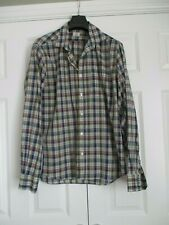 "Hartford Smart Cotton Checked Long Sleeve Shirt Regular XL Size 48"" Chest VGC"