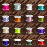 93M/100Yards 1mm Knot Satin Macrame Beading Rattail Nylon Cords Jewelry 28 Color