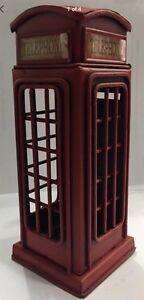 Vintage London Telephone Money / Piggy Bank Metal Telephone Box Souvenir Gift