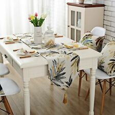 Natural Rustic Polyester Table Runner Table Cloth Pillowcase Home Weddin