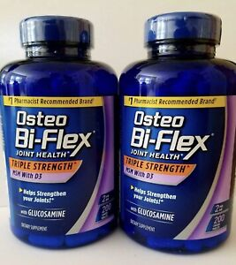 Osteo Bi-Flex 2 Pack - Triple Strength Glucosamine MSM D3  2x 200 ct Exp: 04/23